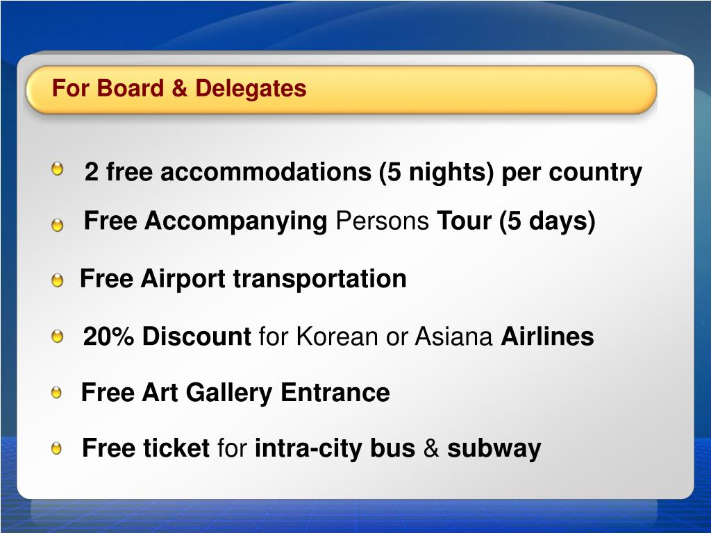 For Board & Delegates