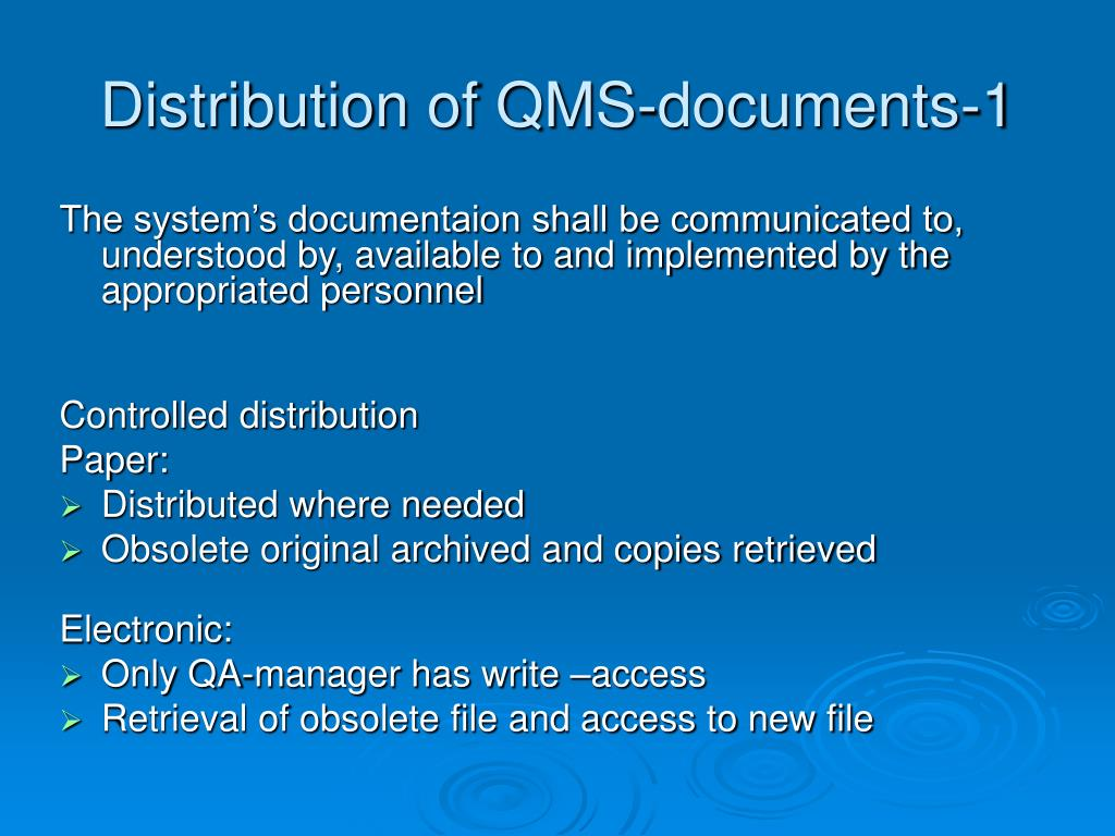 Distribution of QMS-documents-1