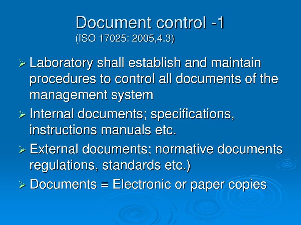Document control -1