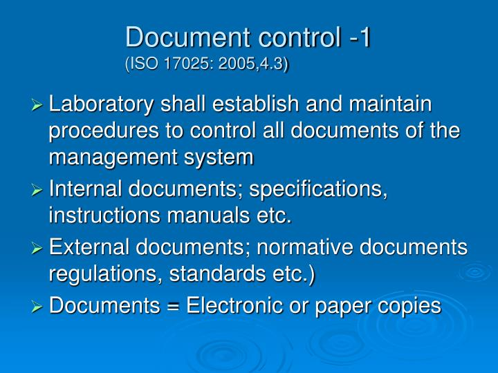 Document control 1 iso 17025 2005 4 3 l.jpg