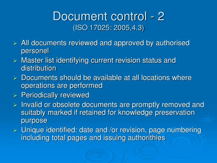 Document control 2 iso 17025 2005 4 3 l.jpg