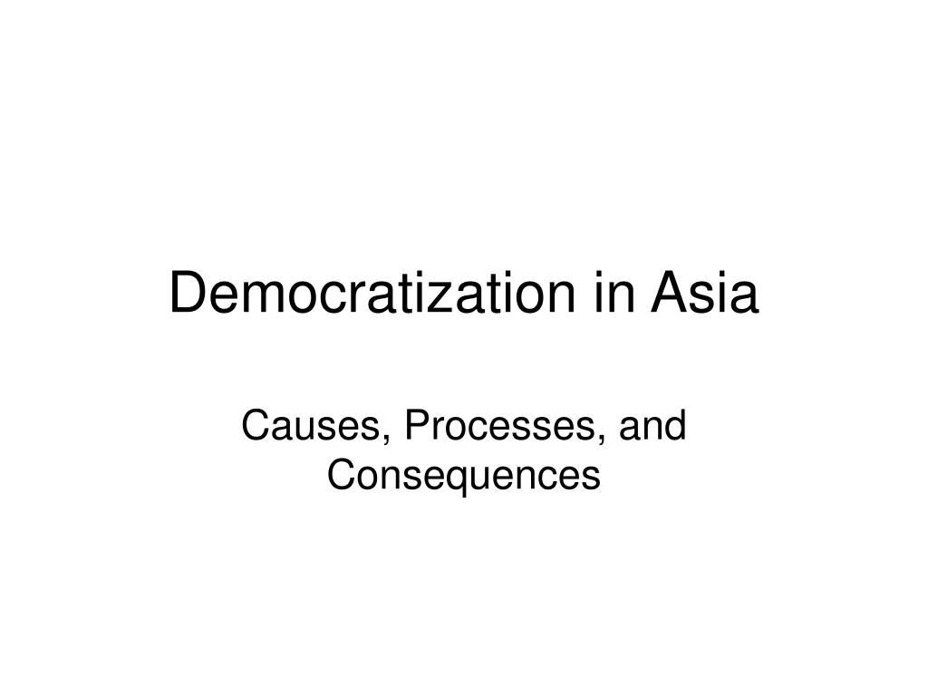 Democratization in Asia
