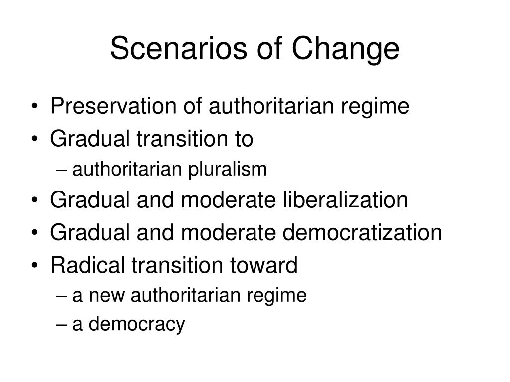 Scenarios of Change