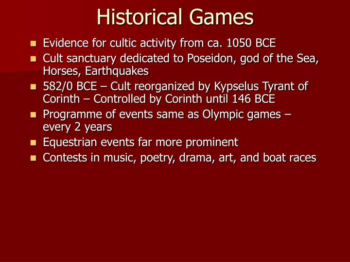 Historical Games