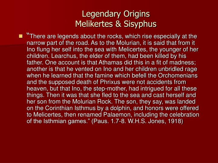 Legendary Origins