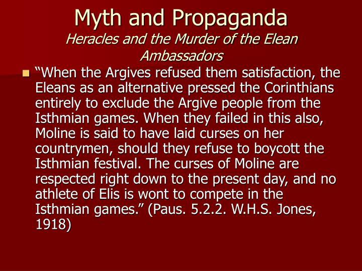 Myth and Propaganda