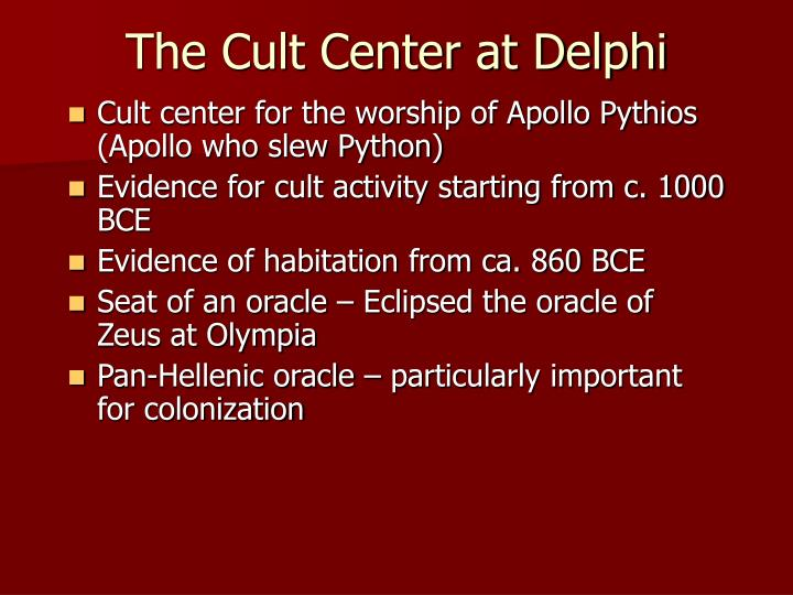 The Cult Center at Delphi