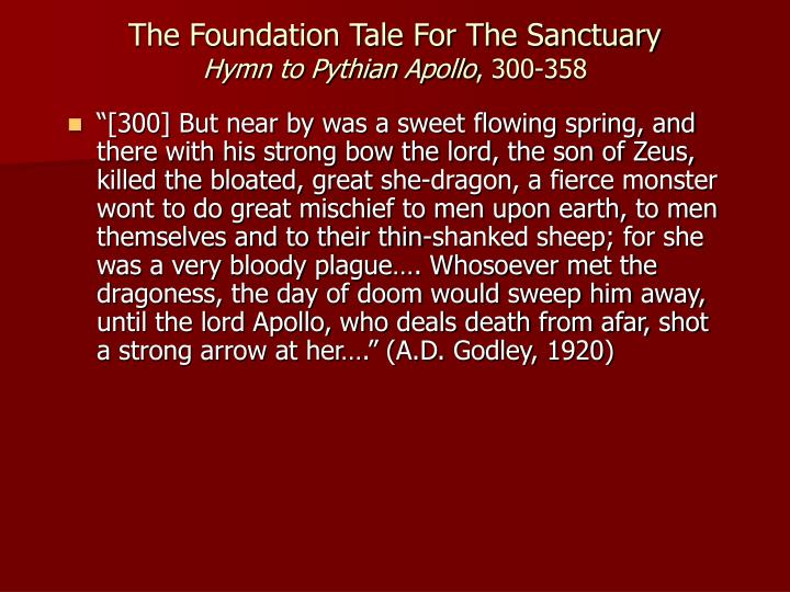 The Foundation Tale For The Sanctuary