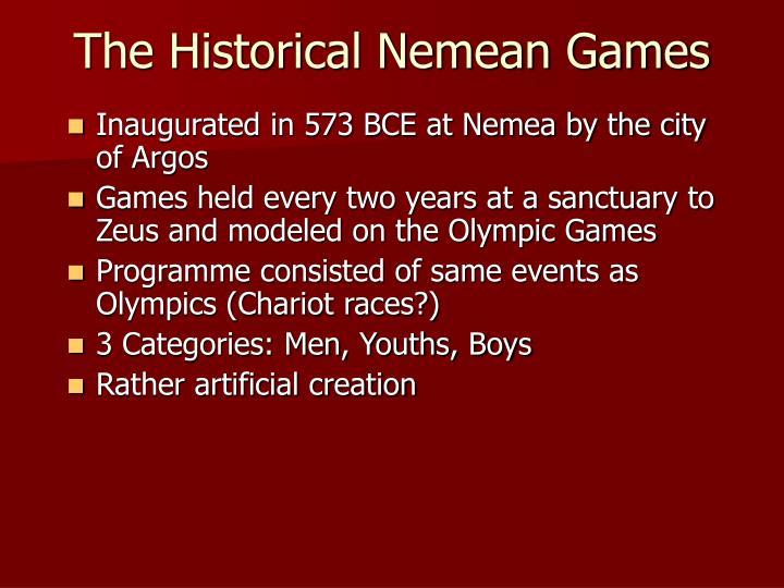 The Historical Nemean Games