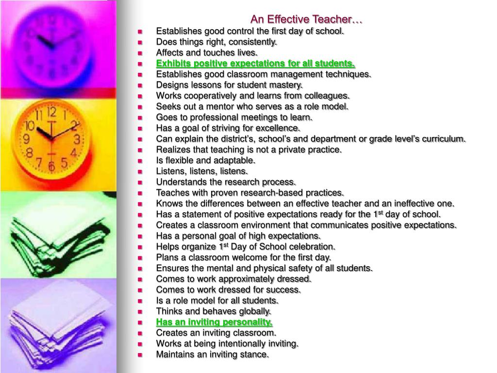 what makes a teacher effective The qualities of an effective team leader inspire the trust and respect of the team  a confident leader is secure in the decisions he makes that affect.
