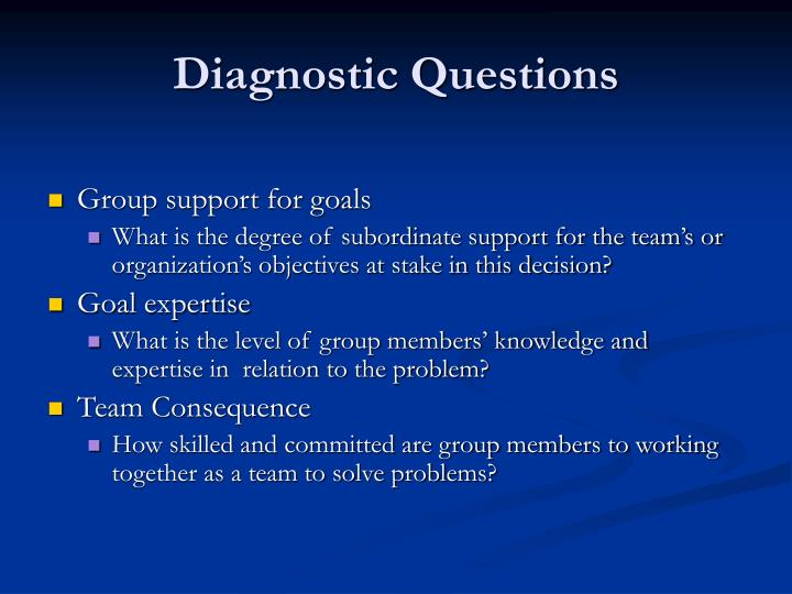 Diagnostic Questions