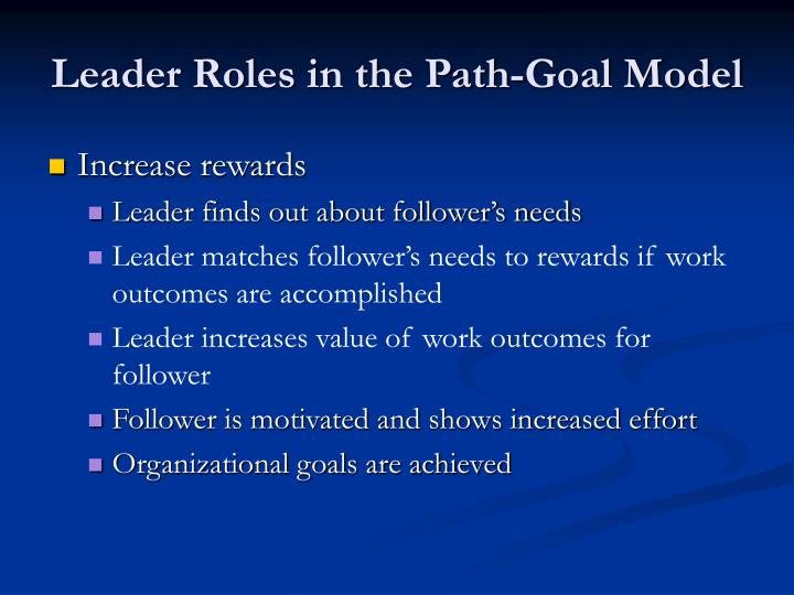Leader Roles in the Path-Goal Model