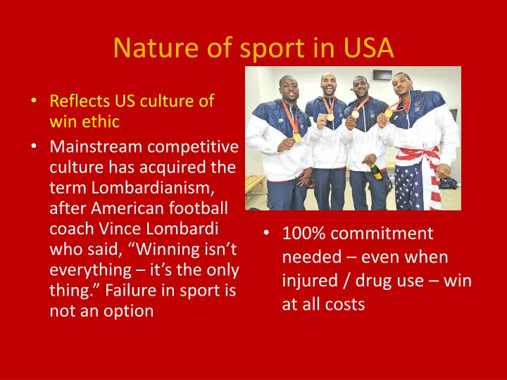 Nature of sport in USA