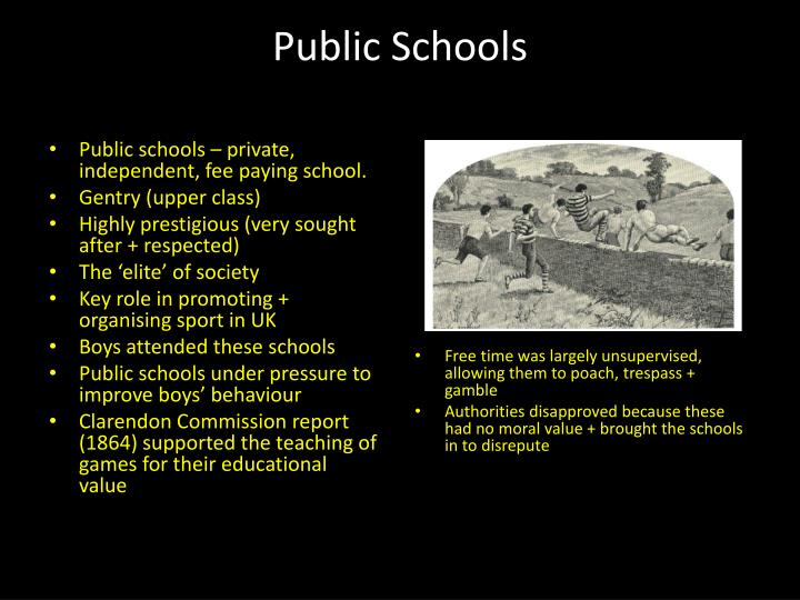 Public schools – private, independent, fee paying school.
