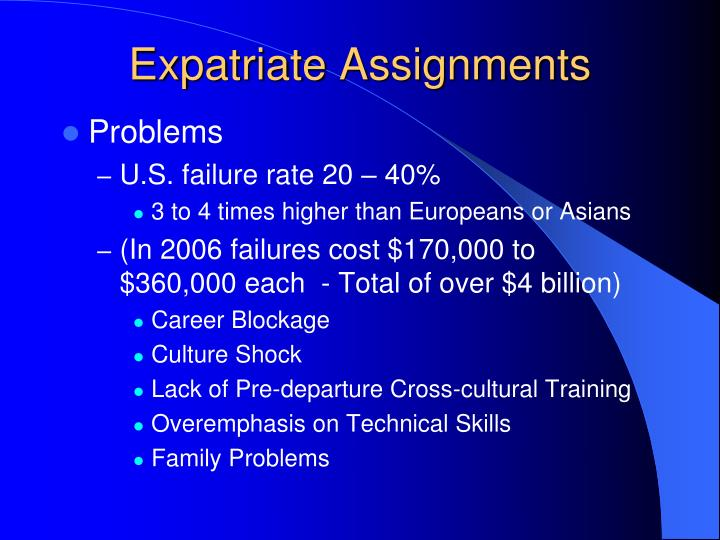 Expatriate Assignments