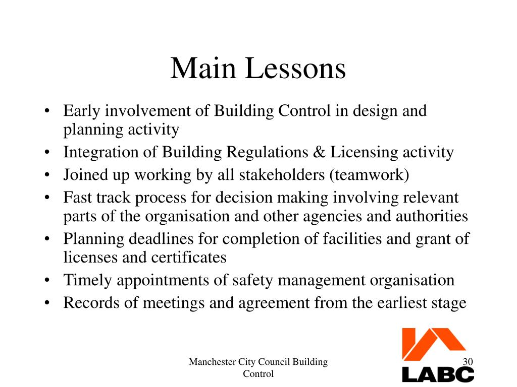 Main Lessons