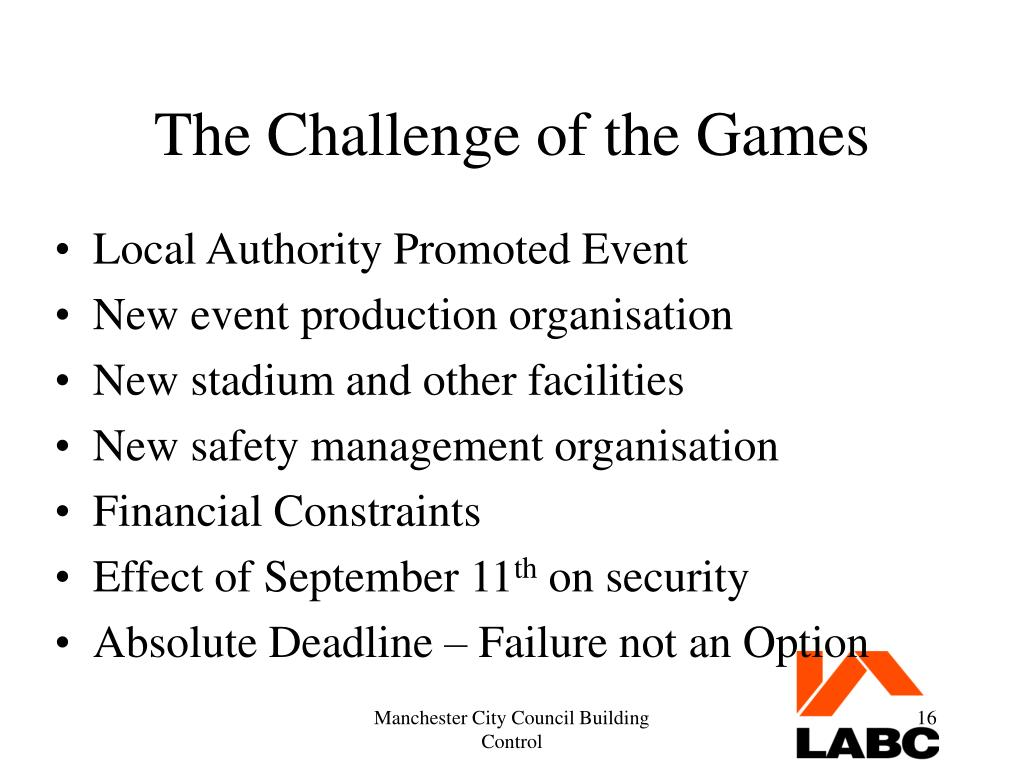 The Challenge of the Games