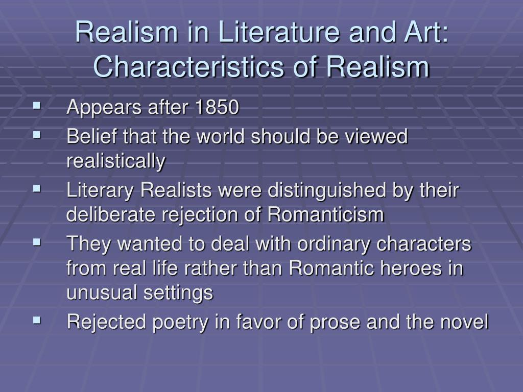 the literature of realism essay