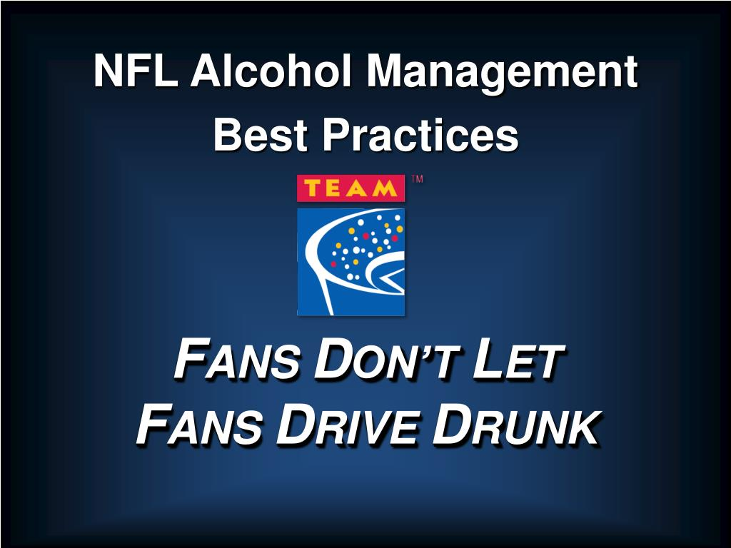 NFL Alcohol Management