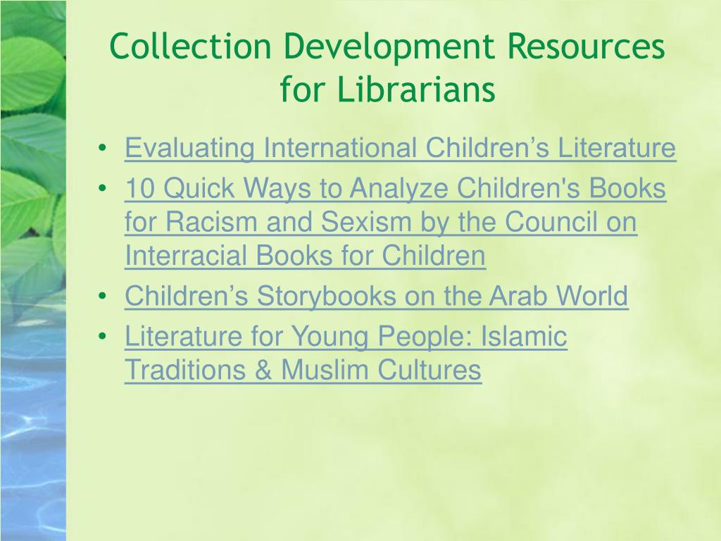 Collection Development Resources for Librarians