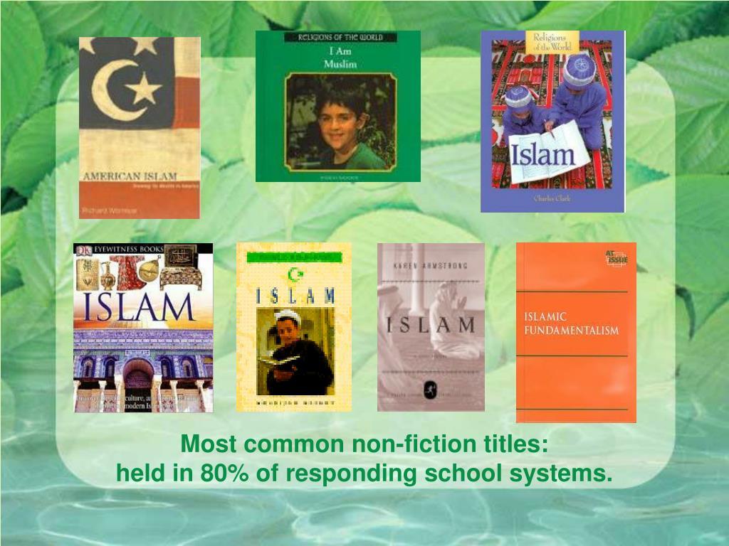 Most common non-fiction titles: