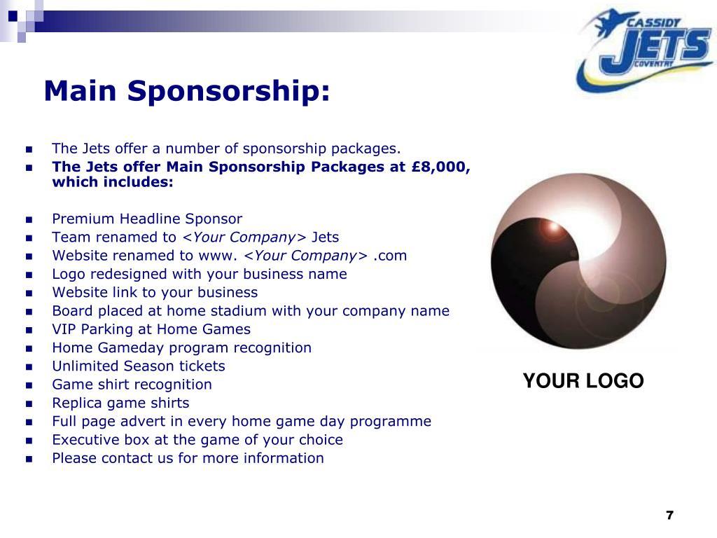 Main Sponsorship: