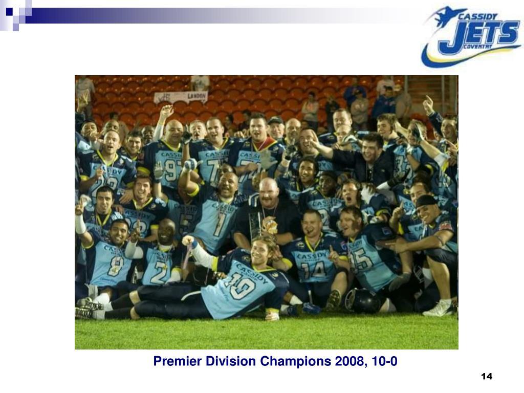 Premier Division Champions 2008, 10-0
