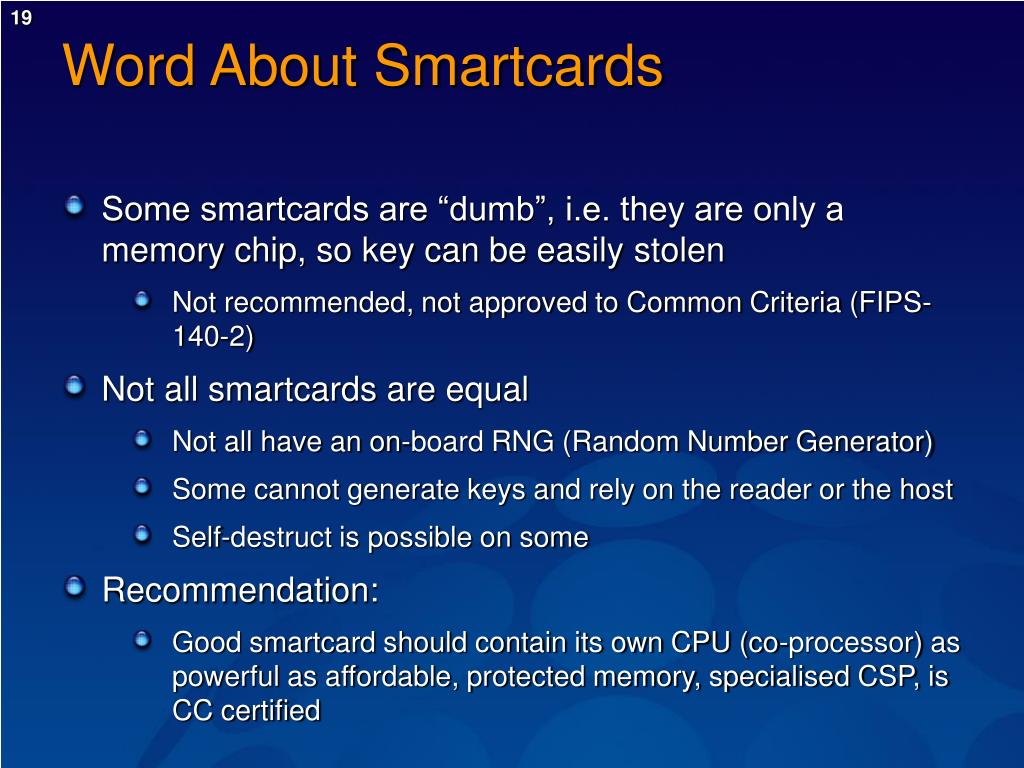 Word About Smartcards