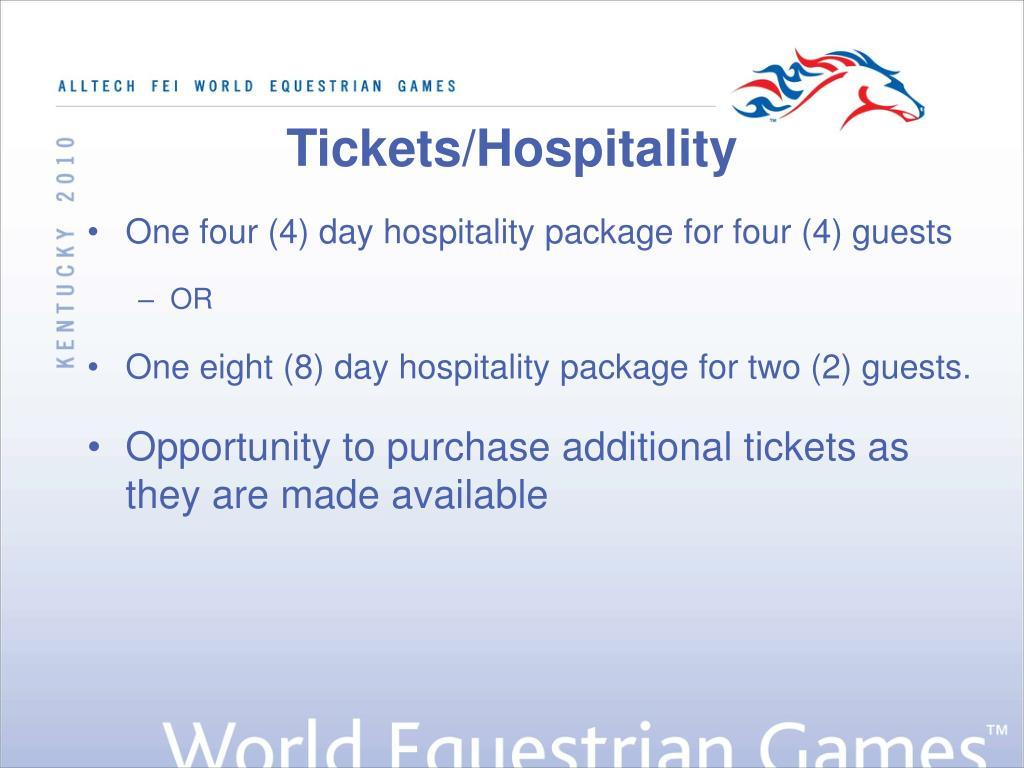 Tickets/Hospitality