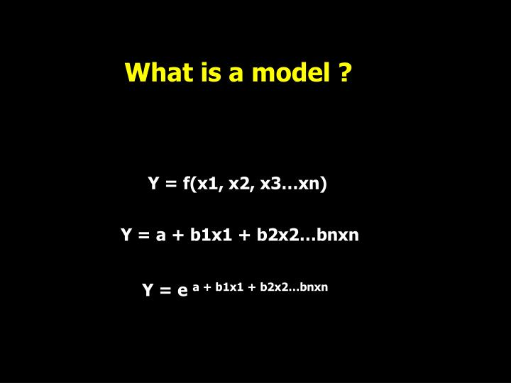 What is a model ?