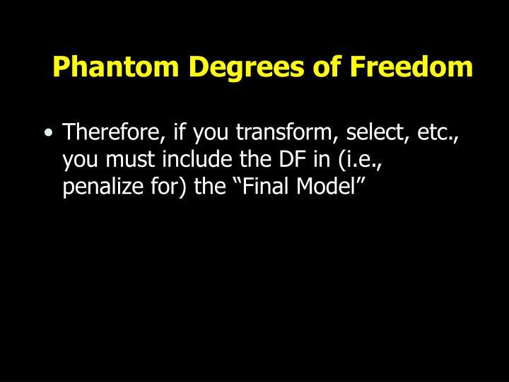 Phantom Degrees of Freedom