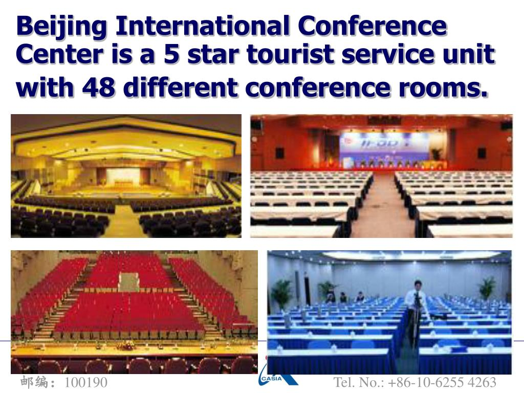 Beijing International Conference Center is a 5 star tourist service unit with 48 different conference rooms.