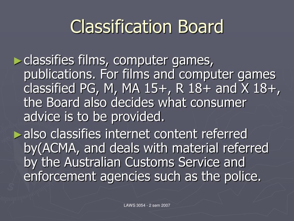 Classification Board