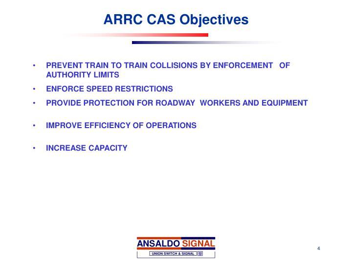 ARRC CAS Objectives