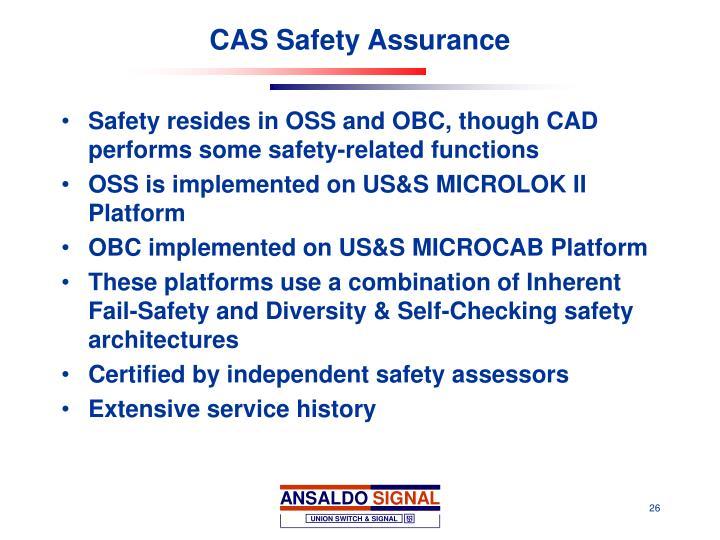 CAS Safety Assurance