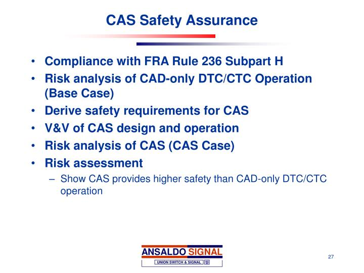 CAS Safety Assurance