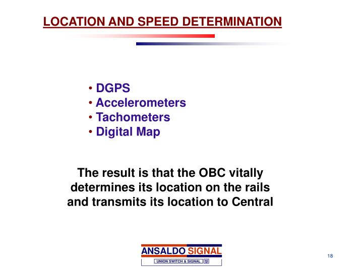 LOCATION AND SPEED DETERMINATION