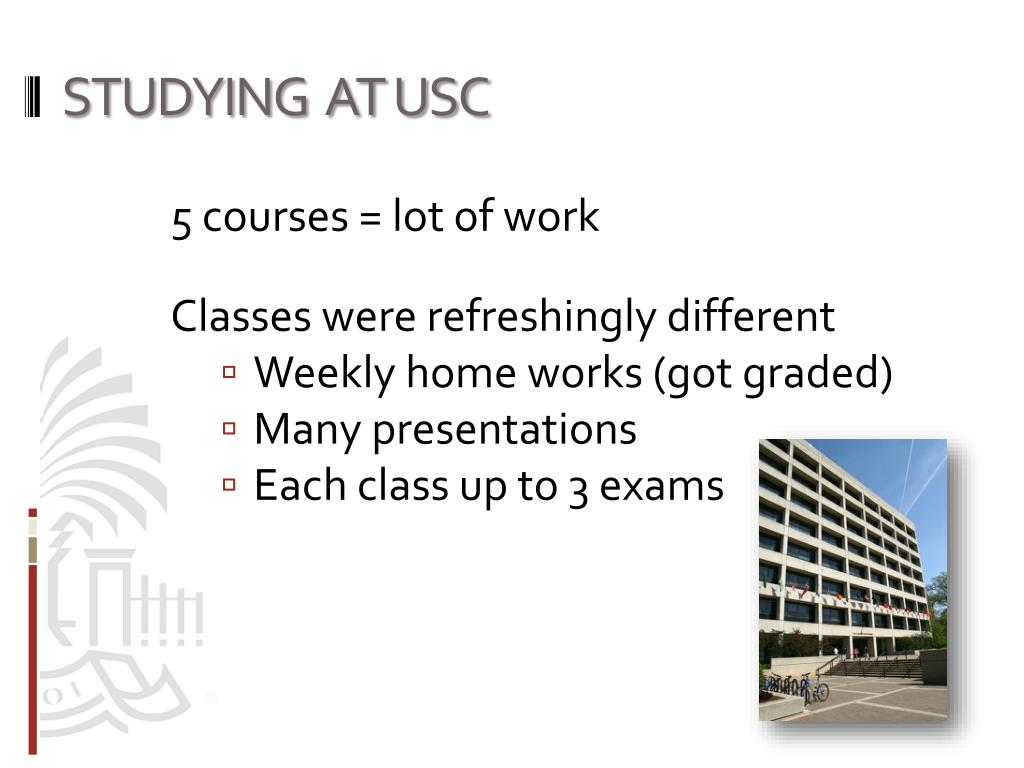 STUDYING  AT USC