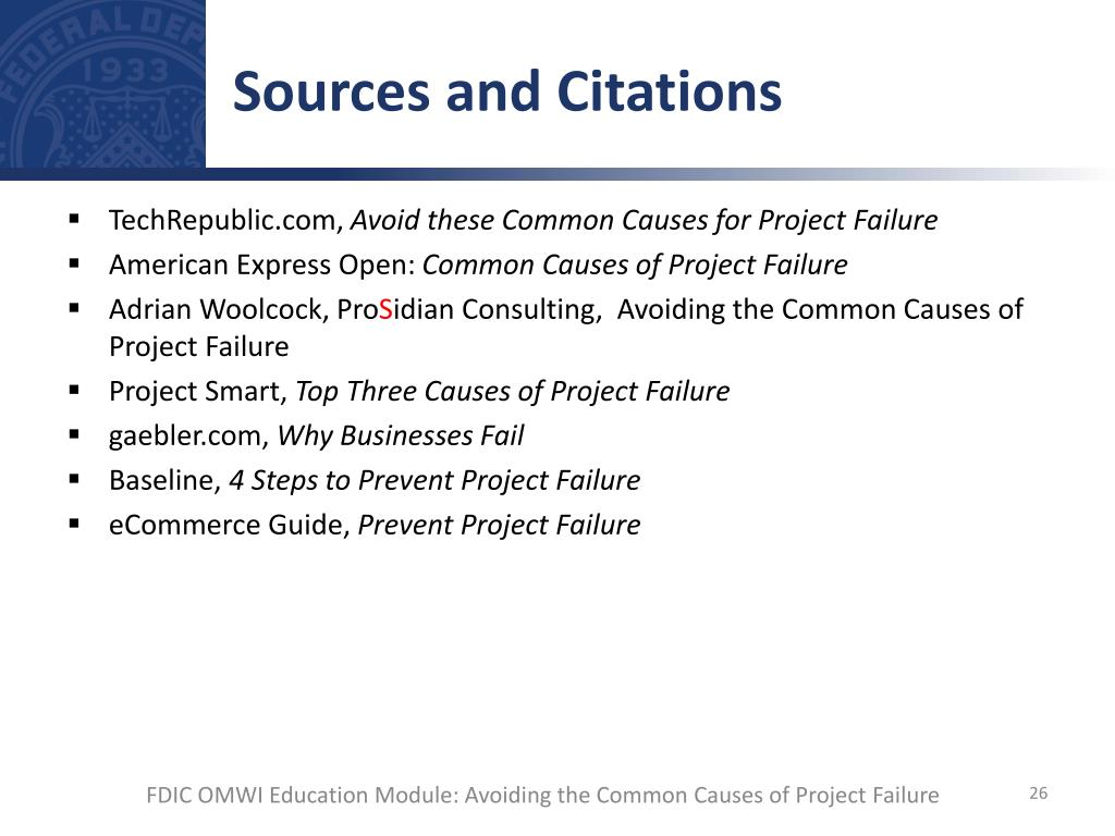 Top 10 Main Causes of Project Failure