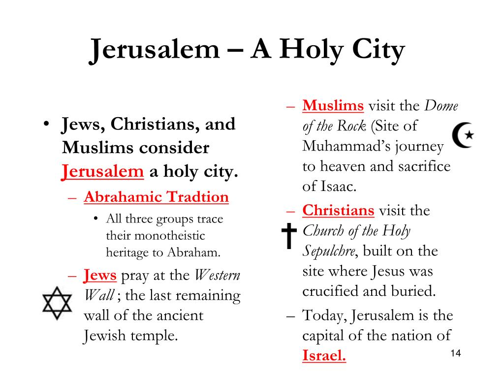 Jerusalem – A Holy City