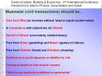muamalat civil transactions should be