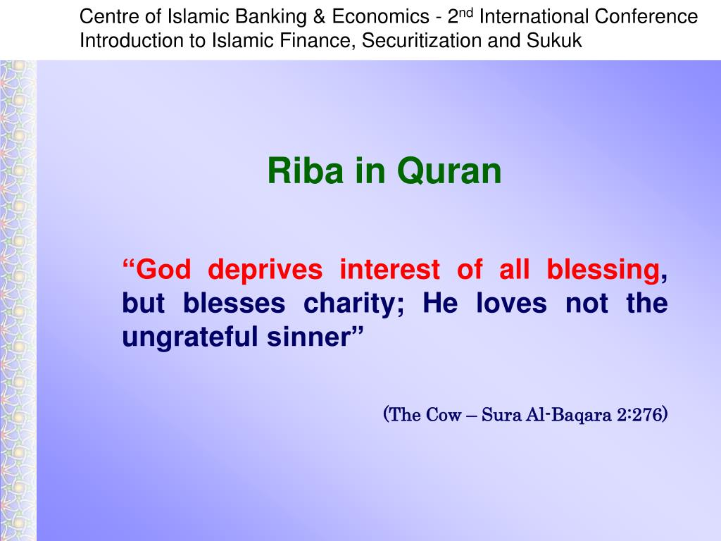 """God deprives interest of all blessing"