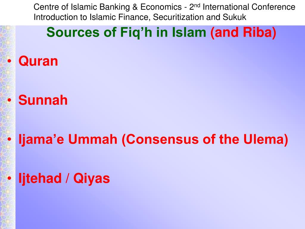 Sources of Fiq'h in Islam