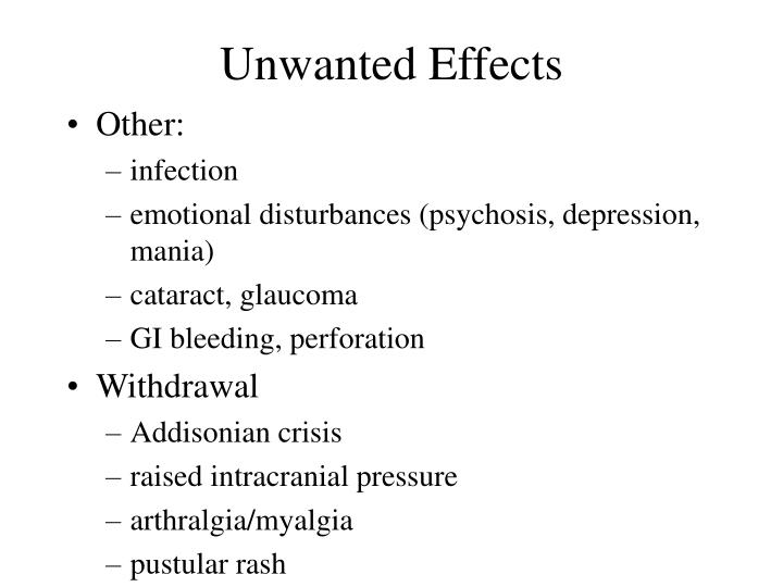 Unwanted Effects