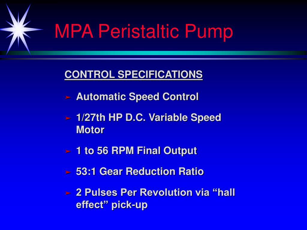 MPA Peristaltic Pump