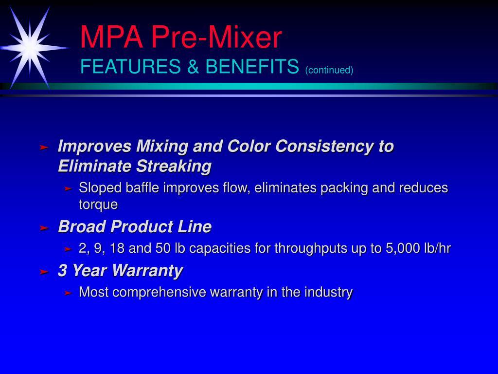 MPA Pre-Mixer