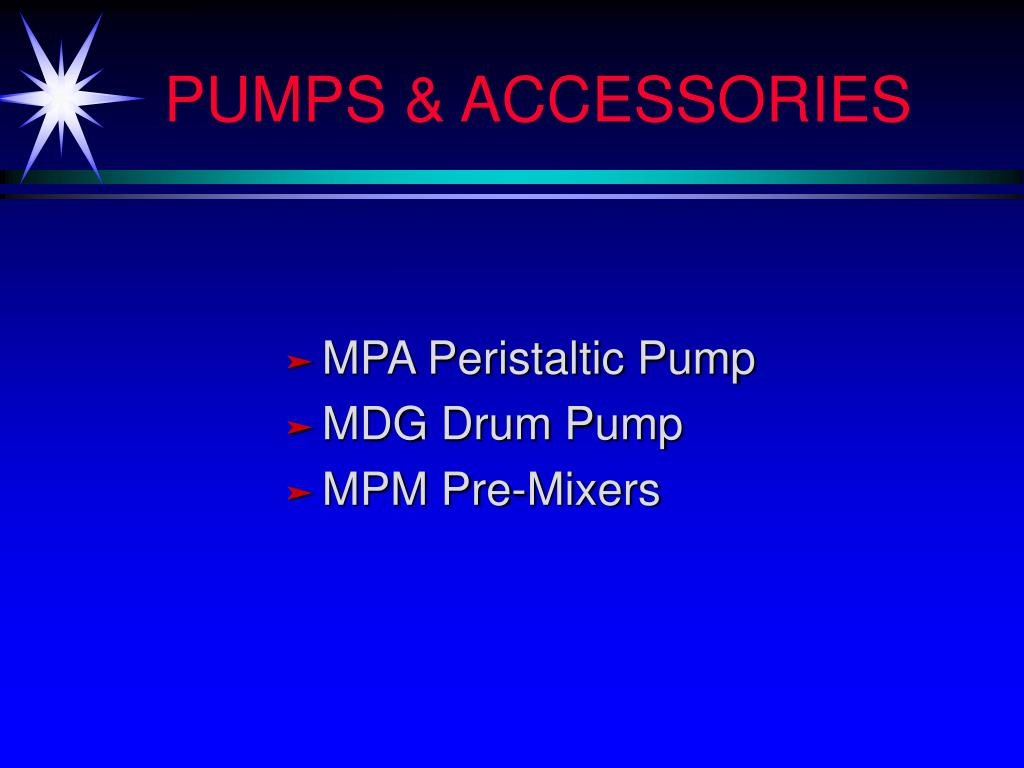 PUMPS & ACCESSORIES