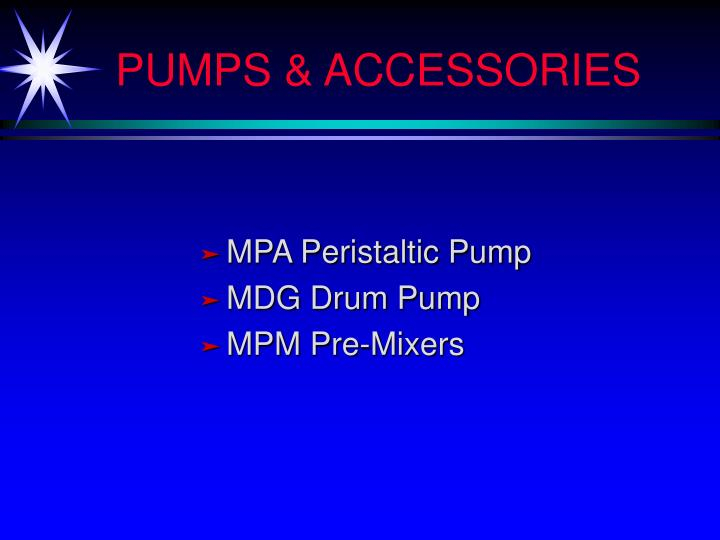 Pumps accessories