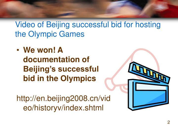 Video of beijing successful bid for hosting the olympic games