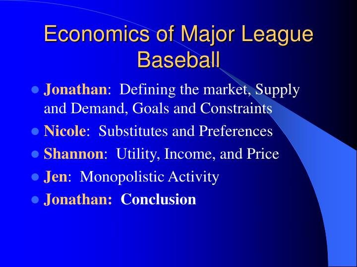 Economics of major league baseball